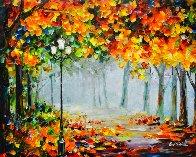 Romantic Mist Original 2012 35x42  Original Painting by Daniel Wall - 0