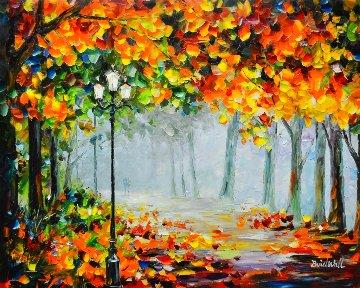 Romantic Mist Original 2012 35x42  Original Painting - Daniel Wall