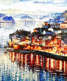 Porto City, Portugal 2014 48x41 Huge Original Painting - Daniel Wall