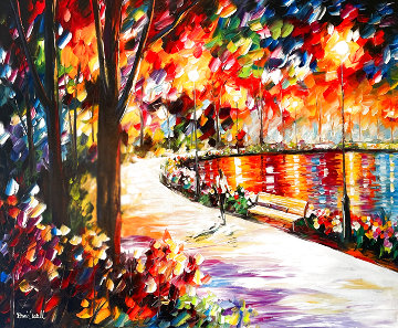 Path By the Lake 2008 37x43 Original Painting - Daniel Wall