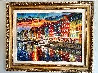 Beautiful Copenhagen 2014 43x52 Huge   Original Painting by Daniel Wall - 1