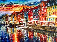 Beautiful Copenhagen 2014 43x52 Huge   Original Painting by Daniel Wall - 0