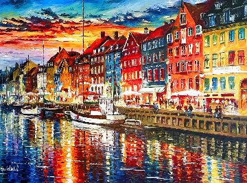 Beautiful Copenhagen 2014 43x52 Huge   Original Painting - Daniel Wall
