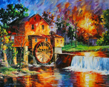 Old Mill House 2010 36x42 Original Painting - Daniel Wall