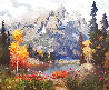 Untitled (Mountain Landscape) 1996 73x86 Original Painting by Kent Wallis - 0
