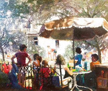 Summer Holiday 40x50 Super Huge Original Painting - Kent Wallis