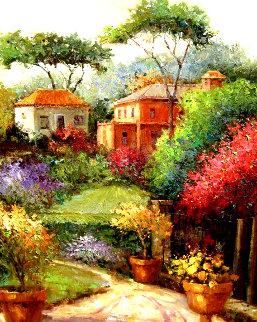 Glorious Villa Walkway 2000 42x36 Original Painting - Scott Wallis