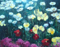 Poppies And Lillies 26x32 Original Painting by Scott Wallis - 0
