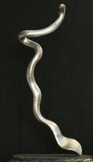 Sea Snake Steel Sculpture 33 in Sculpture - Edward Walsh