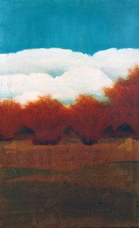 Fall Willows 1996 Original Painting - Tal Walton
