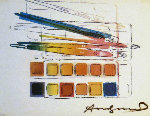 Watercolor Paint Kit With Brushes Limited Edition Print - Andy Warhol