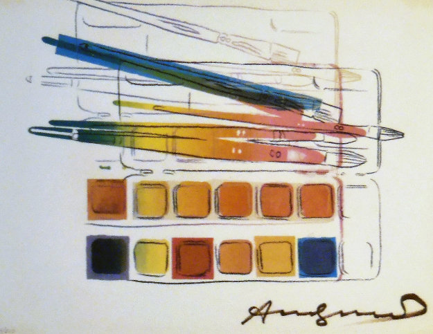 Watercolor Paint Kit With Brushes Limited Edition Print by Andy Warhol