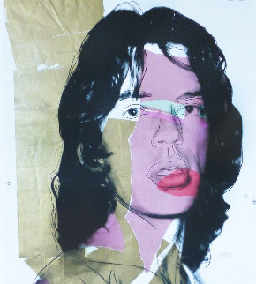Mick Jagger Poster 2010 Limited Edition Print by Andy Warhol