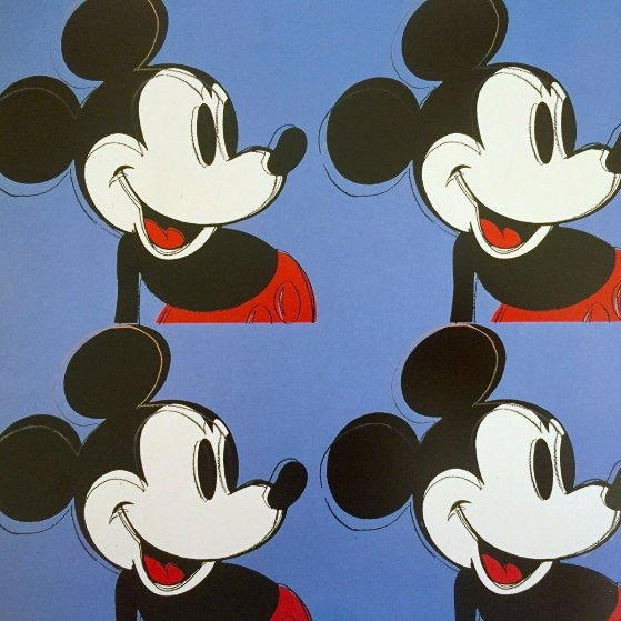 Myths: Mickey Mouse Poster 1995 Limited Edition Print by Andy Warhol