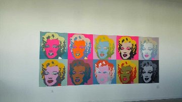 Sunday B. Morning, Marilyn Monroe Suite of 10 Framed Limited Edition Print by Andy Warhol