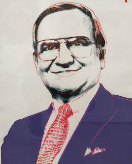 Lee Iacocca Unique 1985 Limited Edition Print by Andy Warhol