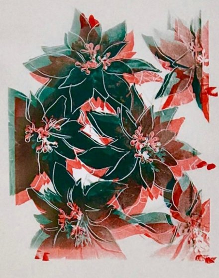 Poinsettias Unique 1985 Limited Edition Print by Andy Warhol