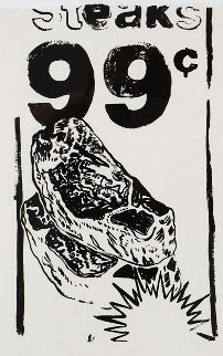 Steaks 99 Cents (FS Cat. # IIIa.68) 1986 Limited Edition Print by Andy Warhol