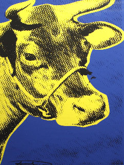 Druckgrafik, Kunstladen, Munchen (Cow) 1971 Limited Edition Print by Andy Warhol