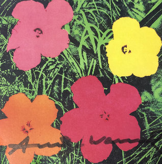 Flowers - Castelli Graphics Invitation 1981 Limited Edition Print - Andy Warhol
