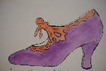 See a Shoe And Pick It Up Watercolor  Watercolor - Andy Warhol