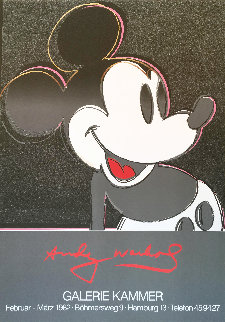 Mickey 1982 Plate Signed Riginal Pop Art Poster Limited Edition Print - Andy Warhol