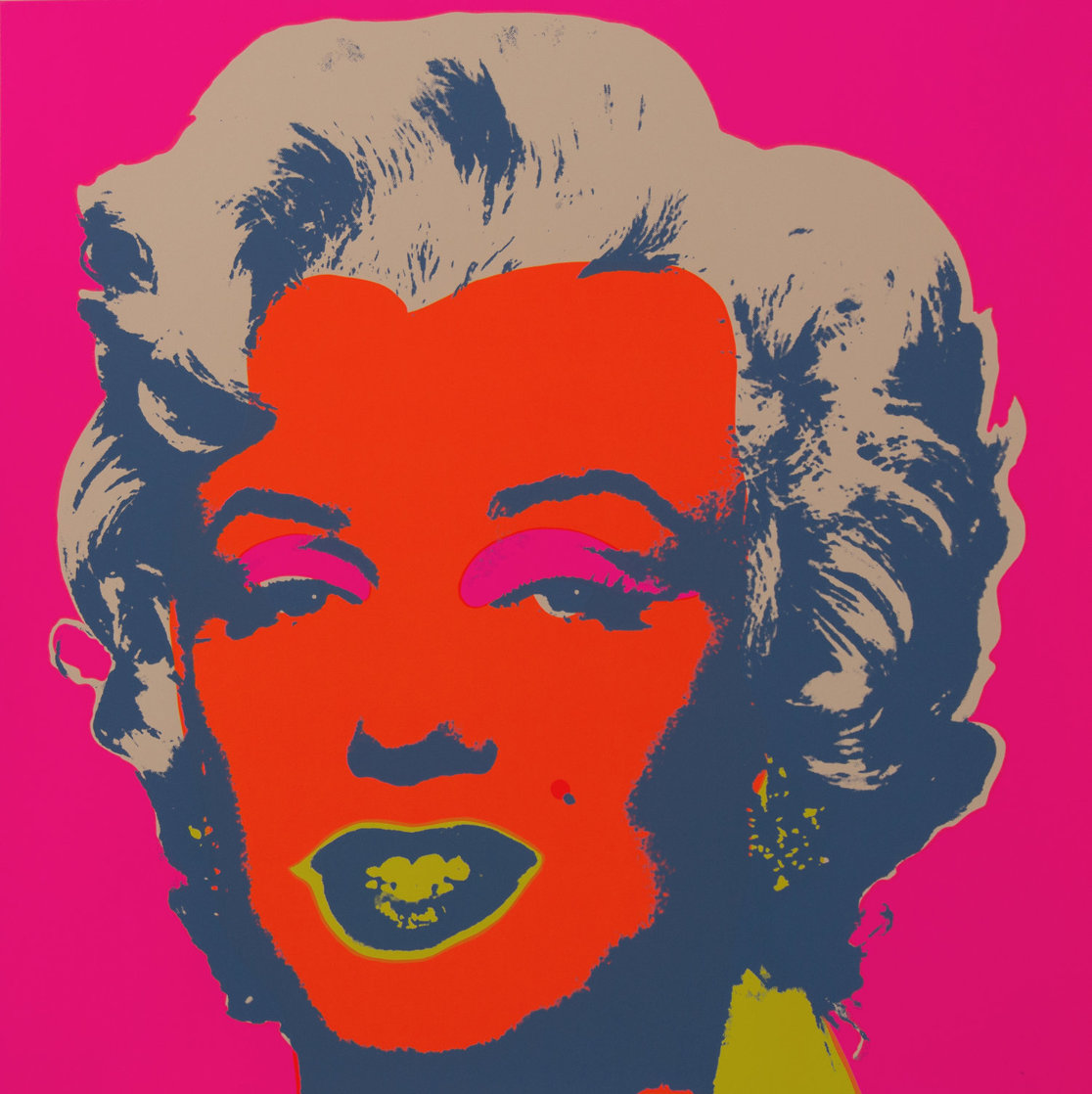 Sunday B Morning Marilyn Monroe Works on Paper (not prints) by Andy Warhol