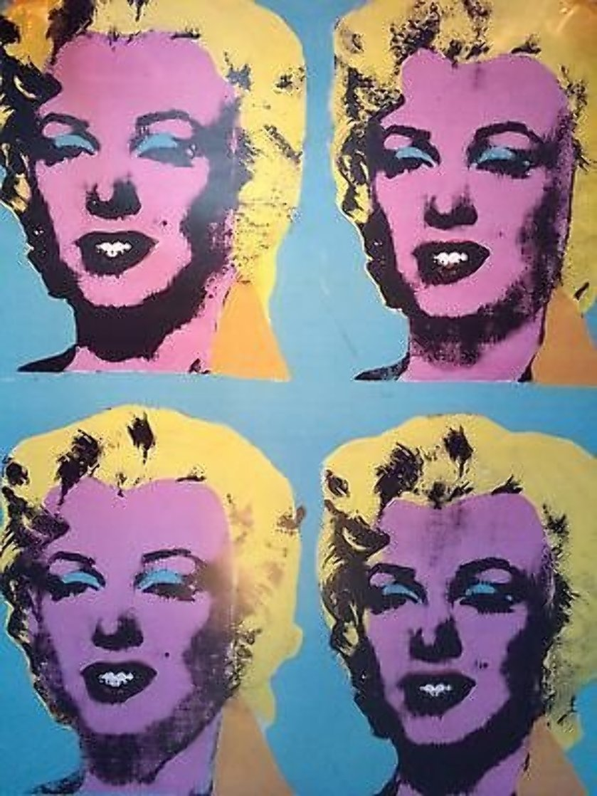 Four Marilyns Poster 1985 Limited Edition Print by Andy Warhol