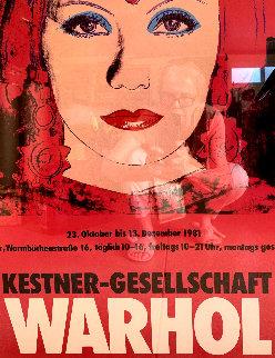 Kestner-Gesellschaft Poster 1981 Original Painting - Andy Warhol