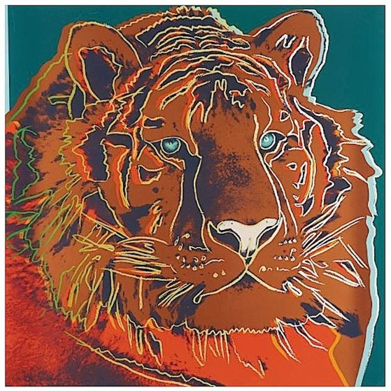 Endangered Species: Siberian Tiger (F. & S. II.297) 1983 Limited Edition Print by Andy Warhol