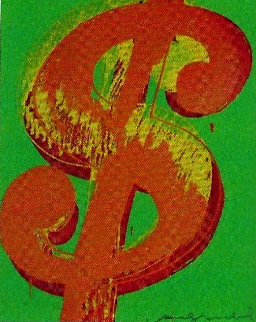 $ (One) Dollar PP Unique 1982 Limited Edition Print - Andy Warhol
