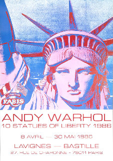 10 Statues of Liberty Poster 1986 Other by Andy Warhol