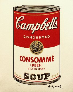 Soup Can - Consommé Poster 1986 Limited Edition Print by Andy Warhol