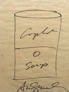 Campbell's Soup  Drawing 1968 11x9 Drawing - Andy Warhol