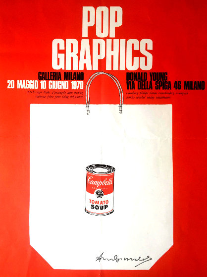 Pop Graphics Galleria Milano Hand Signed Poster Limited Edition Print by Andy Warhol