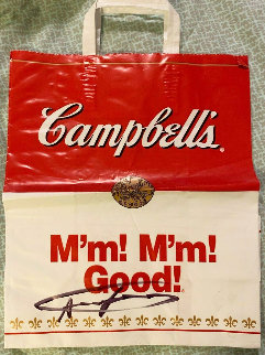 Campbell\'s Soup Bag Hand Signed 1975 18x13 Other - Andy Warhol