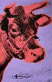 Cow Wallpaper (Purple) Poster 1983 Hand Signed   Limited Edition Print - Andy Warhol