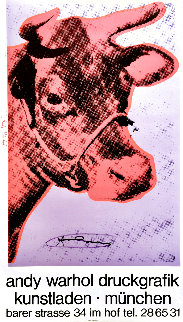 Cow Wallpaper (Purple) Exhibition Poster HS 1983 Limited Edition Print - Andy Warhol
