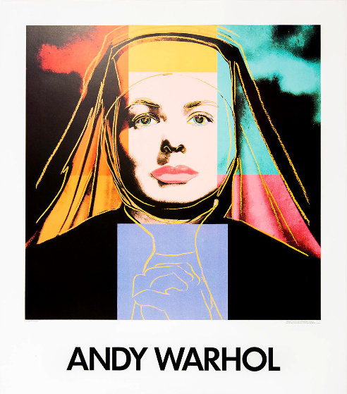Ingrid Bergman the Nun Poster Galerie Boerjeson  AP 1984 HS by Andy Warhol