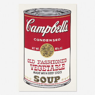 Campbell\'s Soup II, Old Fashioned Vegetable FS II 54 1969 Limited Edition Print - Andy Warhol