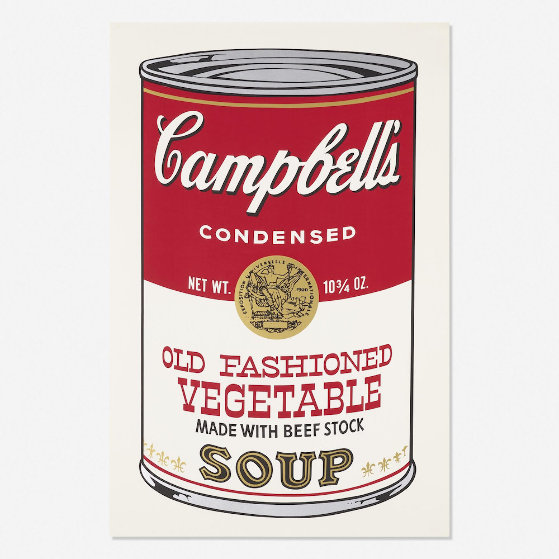 Campbell's Soup II, Old Fashioned Vegetable FS II 54 1969 Limited Edition Print by Andy Warhol