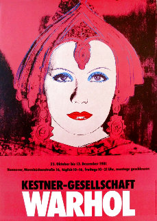 Greta Garbo Exhibition Poster HS 1981 Limited Edition Print - Andy Warhol