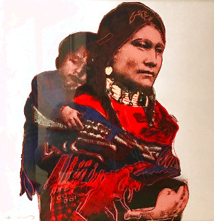 Cowboys And Indians: Mother And Child TP 1986 FS II.383 Limited Edition Print - Andy Warhol