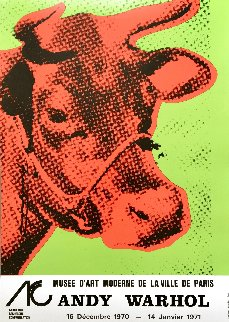 Cow Wallpaper (Green) Exhibition Poster 1970 HS Limited Edition Print - Andy Warhol
