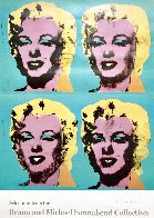 Four Marilyns 1985 Hand Signed Original Pop Art Poster Limited Edition Print by Andy Warhol - 2