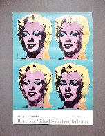 Four Marilyns 1985 Hand Signed Original Pop Art Poster Limited Edition Print by Andy Warhol - 1