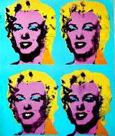 Four Marilyns 1985 Hand Signed Original Pop Art Poster Limited Edition Print by Andy Warhol - 3