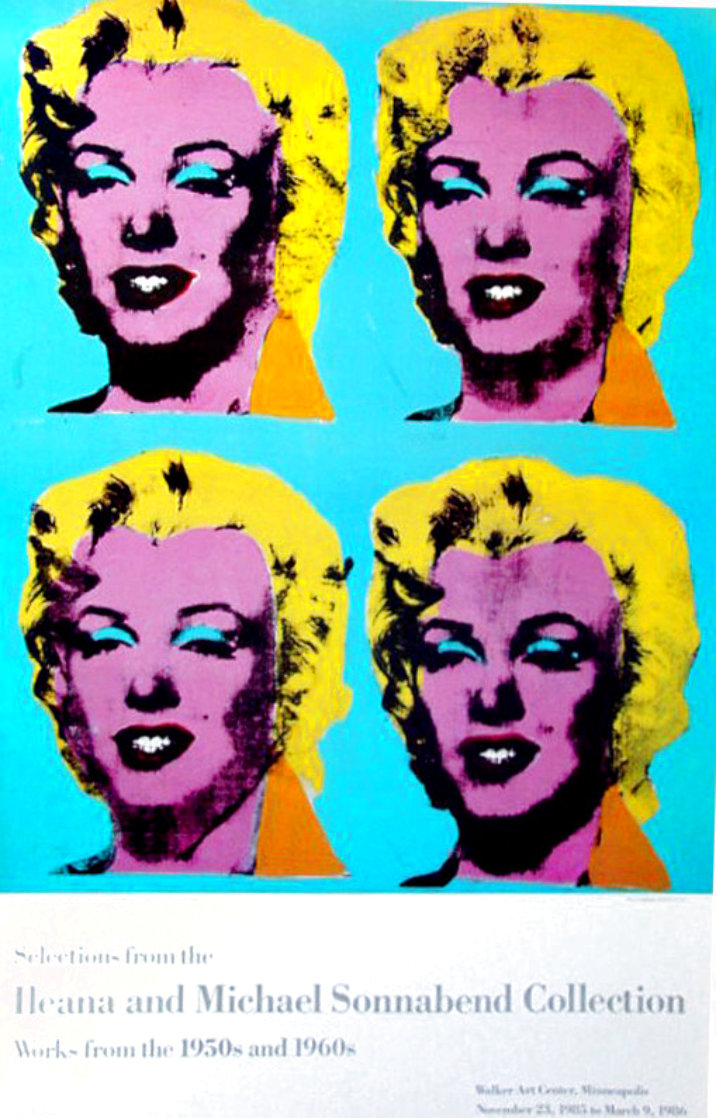 Four Marilyns 1985 Hand Signed Original Pop Art Poster Limited Edition Print by Andy Warhol
