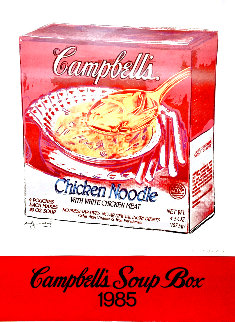 Campbell's Soup Box 1985 Hand Signed Poster Limited Edition Print - Andy Warhol