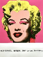 Marilyn (Tate Gallery) 1987 Hand Signed Poster Limited Edition Print by Andy Warhol - 2